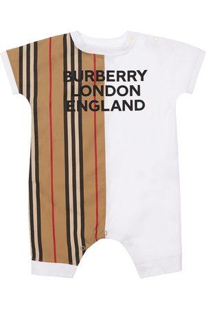 Burberry Logo Print Cotton Interlock Romper