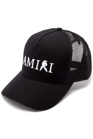 AMIRI X Playboy Embroidered Cotton-canvas Trucker Cap - Mens