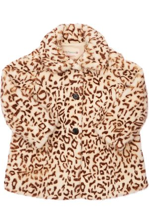 BONPOINT Leo Print Faux Fur Coat