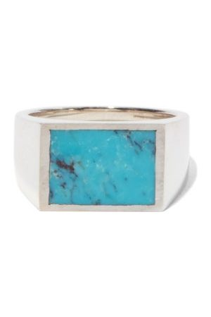 M. COHEN The Glib Turquoise & Sterling Ring - Mens - Multi