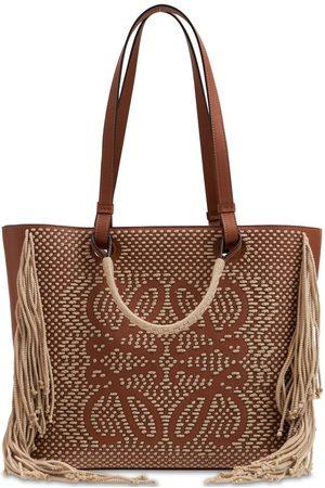 Loewe Anagram Leather & Cord Tote Bag