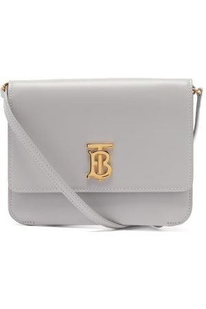 Burberry Tb Mini Leather Cross-body Bag - Womens - Light Grey
