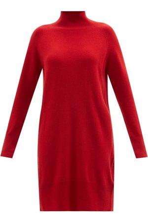 Allude High-neck Cashmere Mini Dress - Womens