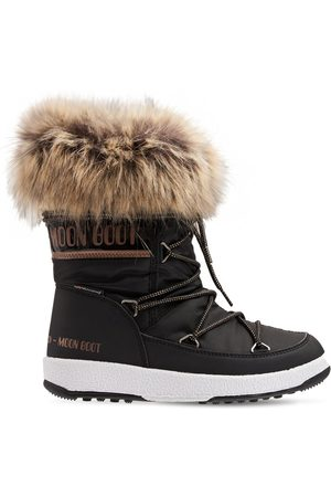 Moon Boot Girls Ankle Boots - Nylon Ankle Snow Boots W/ Faux Fur