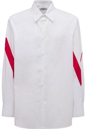 VALENTINO Oversize Logo Print Cotton Poplin Shirt