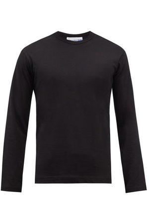 Comme des Garçons Logo-print Cotton-jersey Long-sleeved T-shirt - Mens
