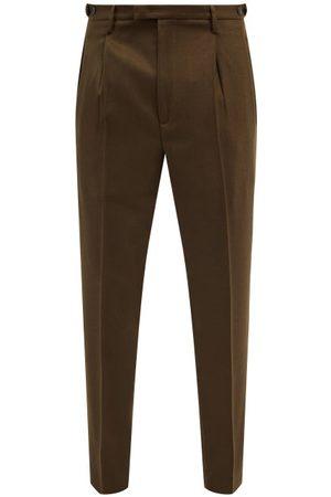 BARENA Masco Wool-blend Twill Tailored Trousers - Mens - Khaki