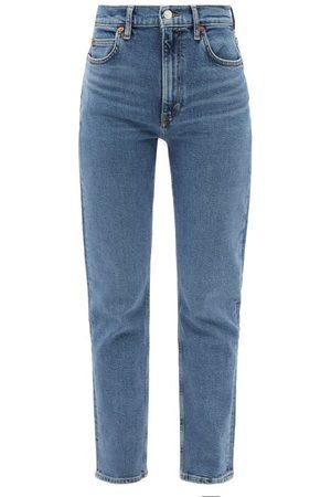 Re/Done Women High Waisted - 70s High-rise Straight-leg Jeans - Womens - Mid Denim