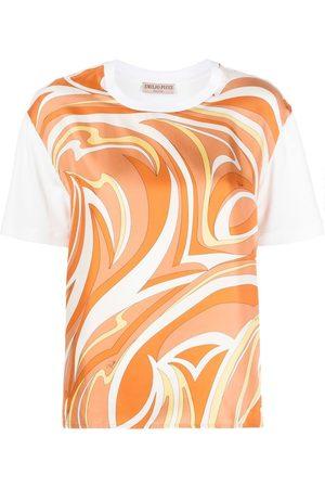 Emilio Pucci Women T-shirts - Vortici-print cotton T-shirt