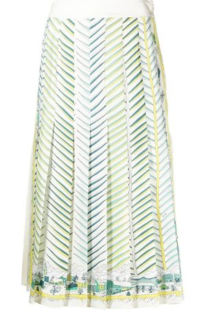 Emilio Pucci Motif-print silk skirt