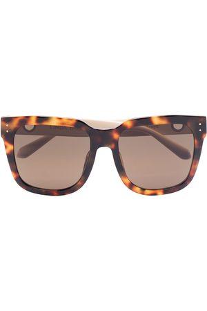 Linda Farrow Women Square - Freya oversized square-frame sunglasses - Neutrals