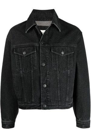 AMI Paris Men Denim Jackets - Logo patch denim jacket