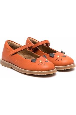 Camper Kids TWS animal-motif ballerina shoes