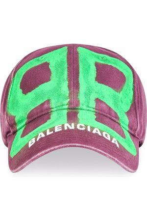 Balenciaga Men Caps - BB spray-paint baseball cap