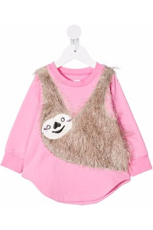 WAUW CAPOW by BANGBANG Baby Casual Dresses - Sloth-appliquéd jersey dress