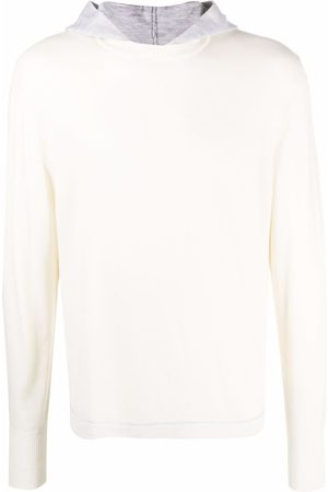 Eleventy Two-tone hooded jumper
