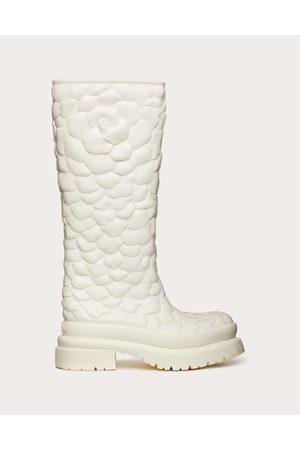 VALENTINO GARAVANI Women Boots - Atelier Shoes 03 Rose Edition Rubber Boot 50 Mm Women Ivory 100% Policloruro Di Vinile (pvc) 35