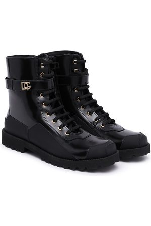 Dolce & Gabbana Kids Girls Ankle Boots - Lace-up combat boots