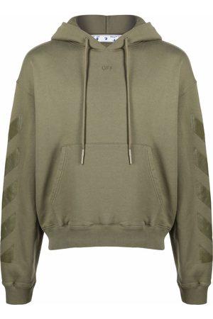OFF-WHITE Arrow logo cotton hoodie