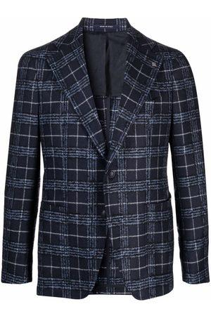 Tagliatore Men Blazers - Check-print wool blazer