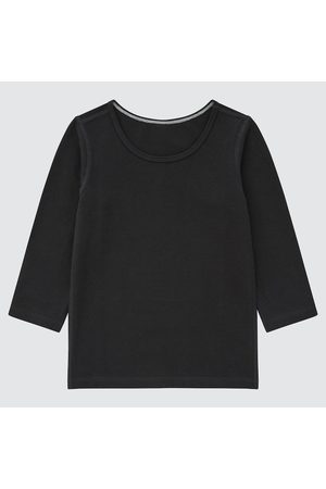 UNIQLO Long Sleeve - Toddler Warm Cotton Stretch Scoop Neck Long-Sleeve T-Shirt, , Ages 12-18M