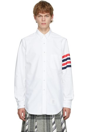 Thom Browne White Oxford GG Top Bar Classic Fit Shirt