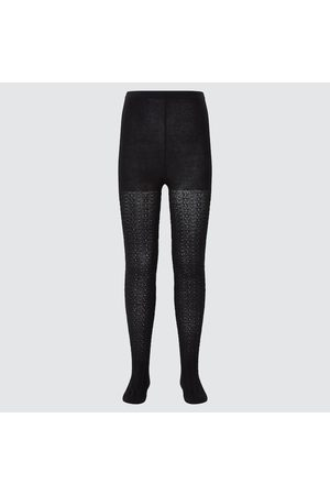 UNIQLO Girl's Knitted Tights, , 3-4Y