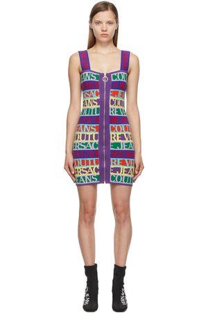 Versace Jeans Couture Multicolor Jacquard Logo Short Dress
