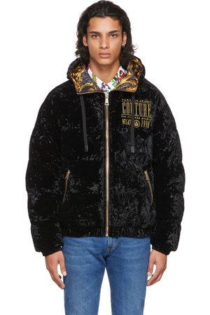 Versace Jeans Couture Black Down Velvet Jacket