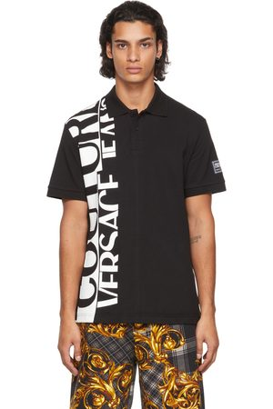 Versace Jeans Couture Black Logo Polo