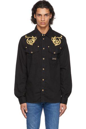 Versace Jeans Couture Black Denim Regalia Baroque Shirt