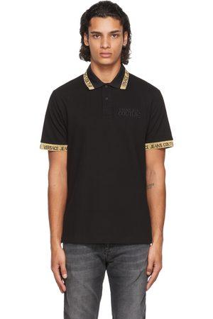 Versace Jeans Couture Black & Gold Logo Collar Polo