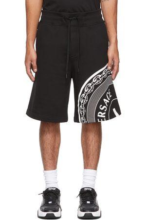 Versace Jeans Couture Black V-Emblem Sweat Shorts