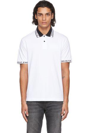 Versace Jeans Couture White & Black Logo Collar Polo