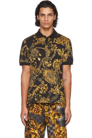 Versace Jeans Couture Black Baroque Polo