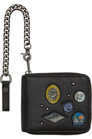 Diesel Men Wallets - Black Hiresh XS Zippy Chain Wallet