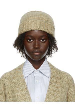 Maison Margiela Women Beanies - Khaki Knit Beanie