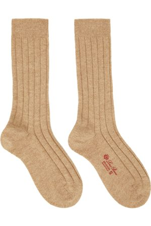 Loro Piana Beige Cashmere Bobby Socks