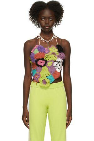 Marco Rambaldi Multicolor Crochet Halter Tank Top
