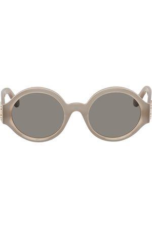 Loewe Grey Chunky Round Sunglasses