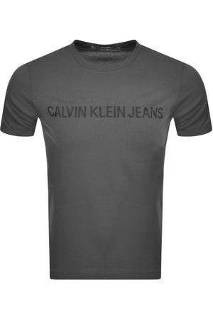 Calvin Klein Men Short Sleeve - Jeans Short Sleeved T Shirt Grey