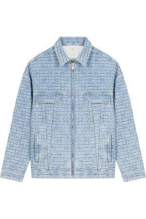 Givenchy Regular-Fit 4G Jacquard Denim Jacket Light Blue