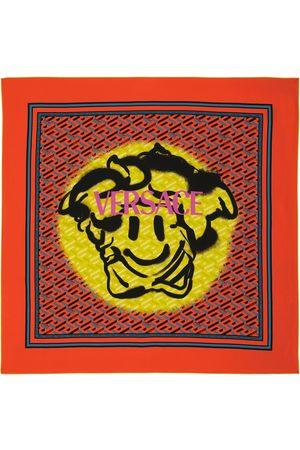VERSACE Medusa organic-silk twill scarf