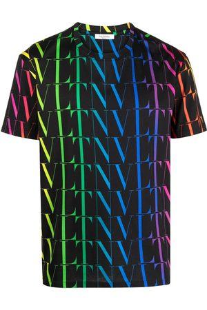 VALENTINO Vltn Rainbow-Logo Print T-Shirt