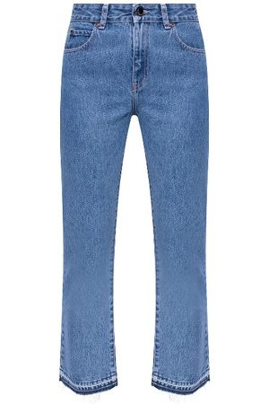Valentino Red Cropped Flared Jeans