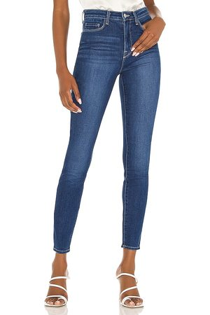 L'AGENCE Monique Ultra High Rise Skinny in Blue.