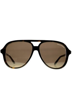 Alexander McQueen Skull-Detail Round-Frame Sunglasses