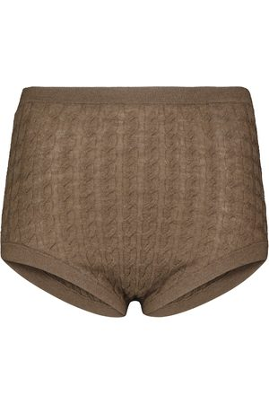 Totême Cable-knit wool-blend panties