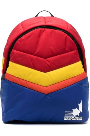 Dsquared2 Multicolour Colour-Block Padded Backpack