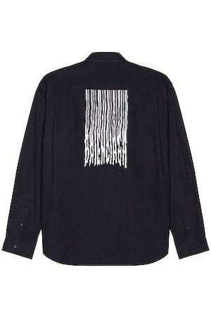 Balenciaga Men Long sleeves - Long Sleeve Large Fit Shirt in Navy